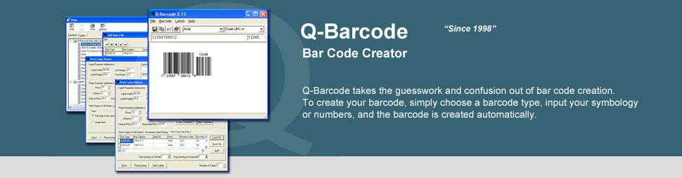 Q-Barcode Bar Code Creator - Purchase Q-Barcode